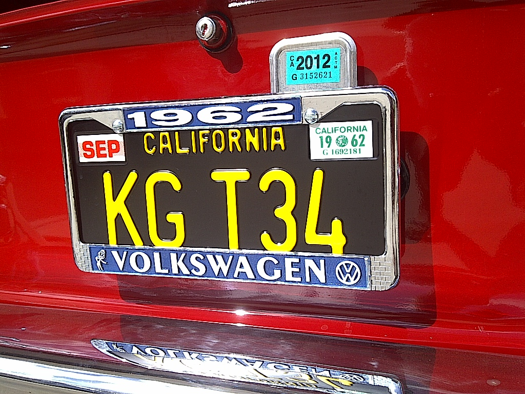 Personalized License Plates | Allison's 1964 VW Beetle