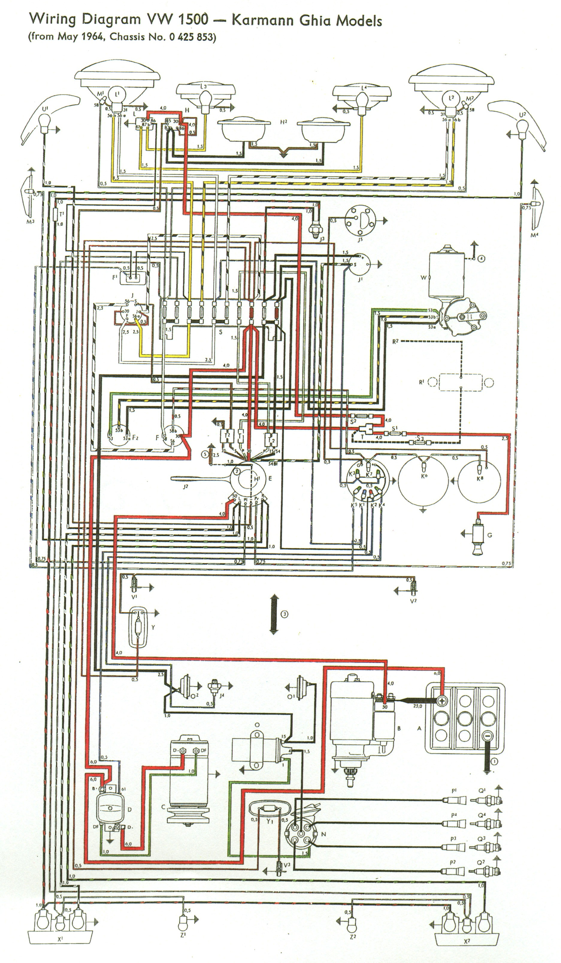 1965to66front wiring diagram for 1971 vw bus the wiring diagram readingrat net 1971 karmann ghia wiring diagram at couponss.co